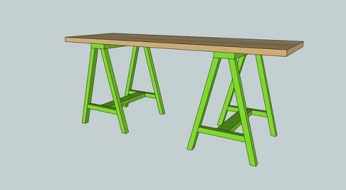 Simple Sawhorse Table Saw Horse