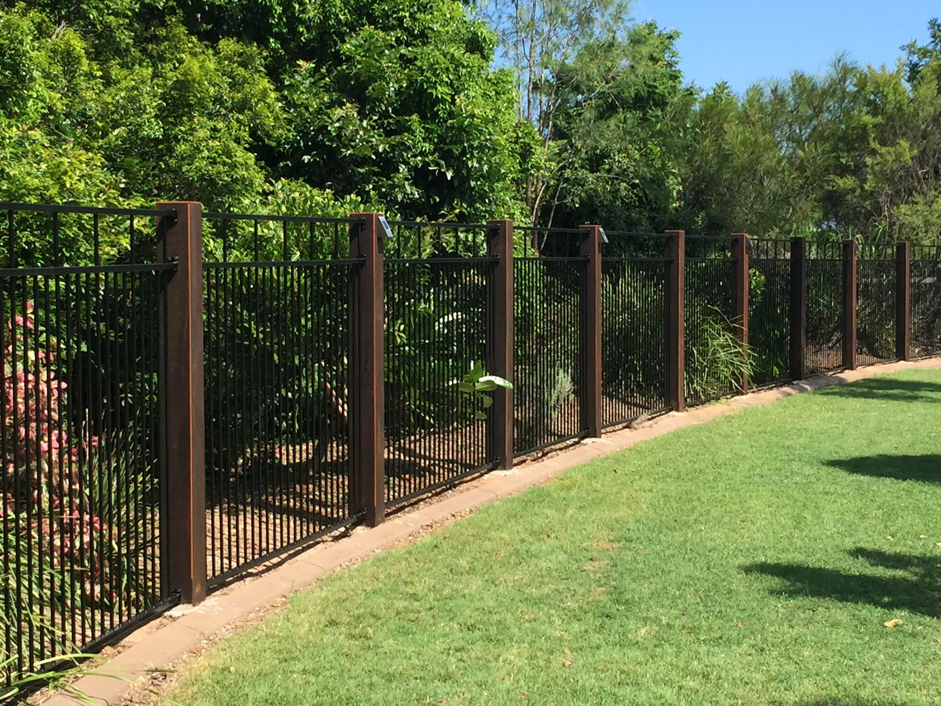 Best 20 aluminium fencing ideas on pinterest modern gates pool fencing with timber posts timber posts used to define key entry locations baanklon Images