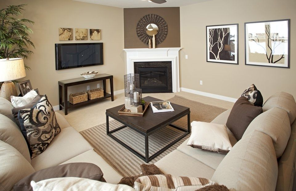 Transitional Living Room With Stone Fireplace Carpet Townsend