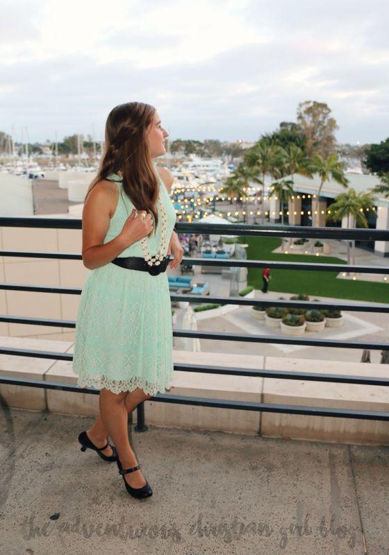 Fashion, blog, style, dress, teal, luau, summer, vintage, San Diego. | The Adventurous Christian Girl Blog |