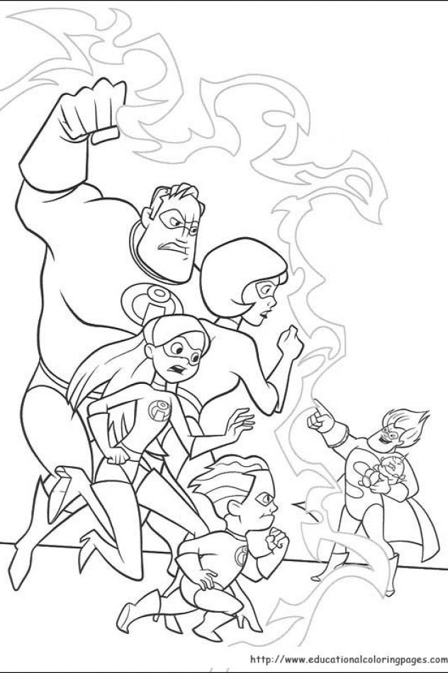 The Incredibles Educational Fun Kids Coloring Pages And Preschool Skills Worksheets Disney Coloring Pages Family Coloring Pages Coloring Pages