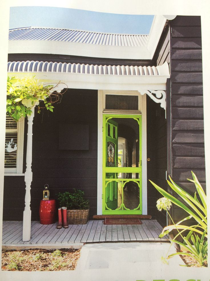 Exterior Colour Combo Dulux Effervescent Lime For Door Taubman 39 S Black