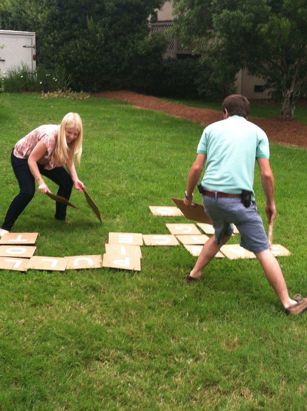 Diy outdoor bananagrams make your own backyard version for Good backyard games