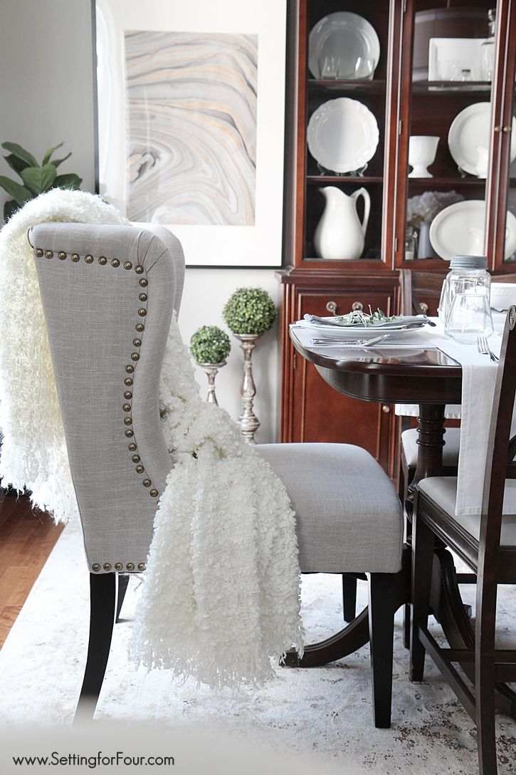Wingback Dining Room Chairs Dining Room Update Pinterest Best Dining Room Chairs Dining