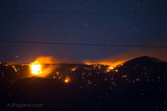 Trout Canyon Fire close-up