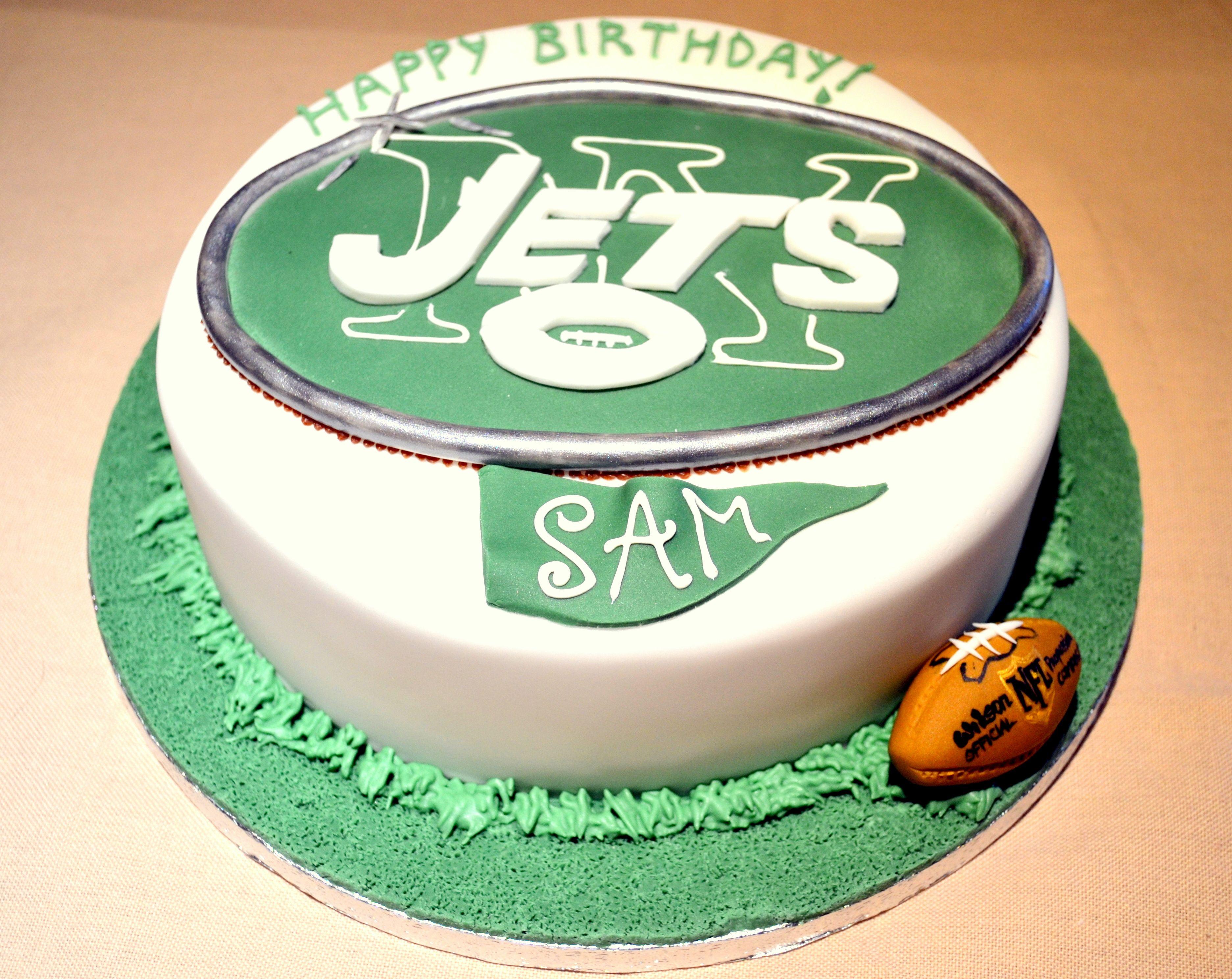 Amazing Ny Jets Cake Bakewell Cake Cake Hubby Birthday Funny Birthday Cards Online Amentibdeldamsfinfo