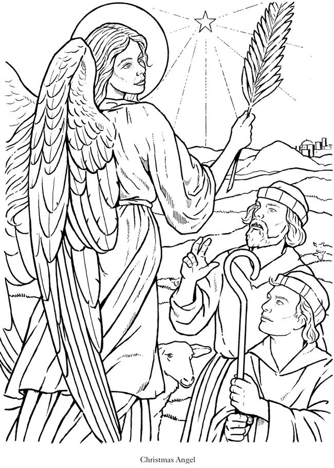 glorious angels coloring book dover publications | angel