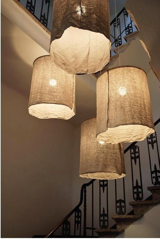 DIY Italian Linen Pendant Lights - Easy Home Decor with Burlap - como hacer lamparas de techo