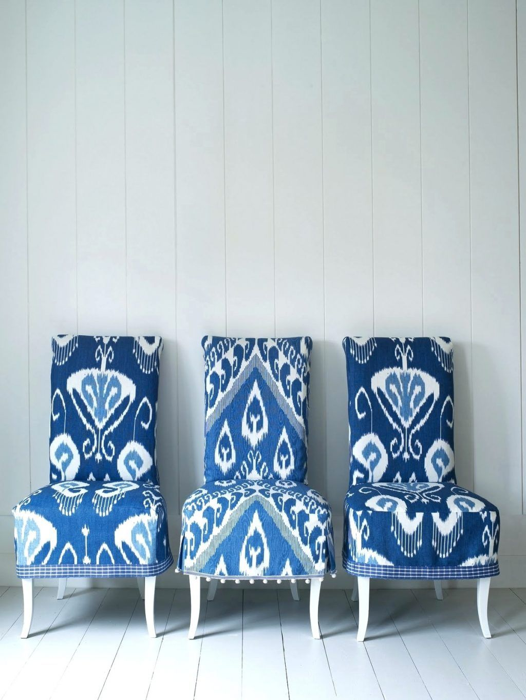 Dining Chairs Blue And White Ikat Chairs Via Interiors Nut