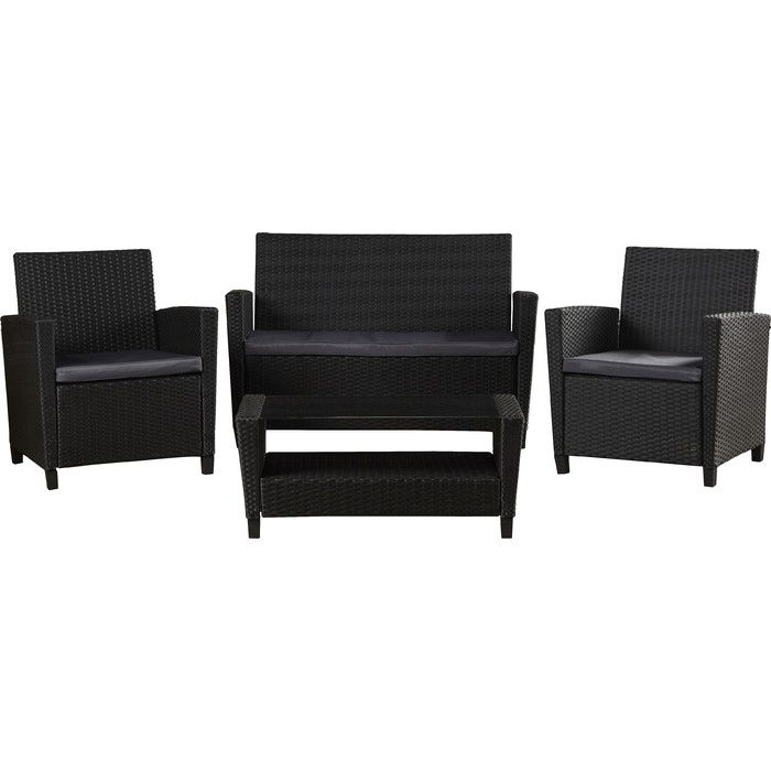 Feltonville 4 Piece Sofa Set With Cushions Backyard