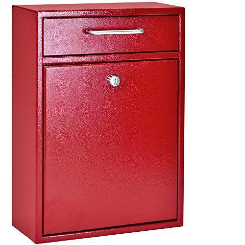 Mail Boss 7426 Locking Security Drop Box Wall Mounted Mailbox Red Security Wall Mounted Mailbox For Convenient D Mail Boss Mounted Mailbox Wall Mount Mailbox