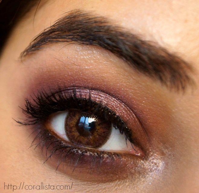 maquillage smoky eyes rose. Black Bedroom Furniture Sets. Home Design Ideas