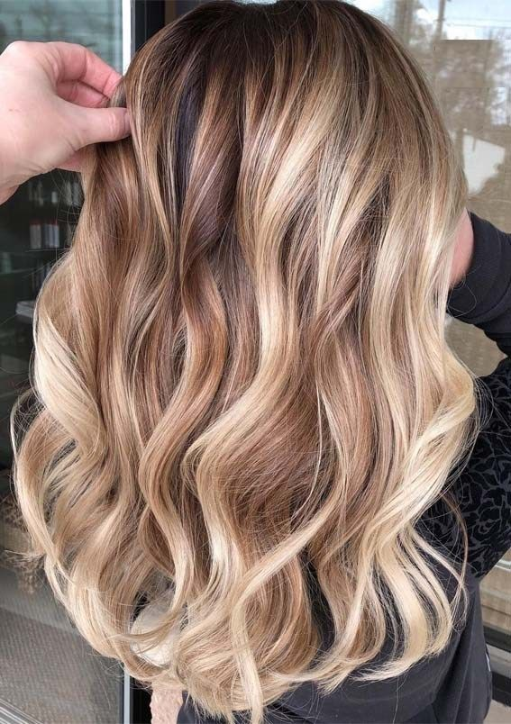 Modern Buttery Blonde Balayage Hair Colors Highlights In