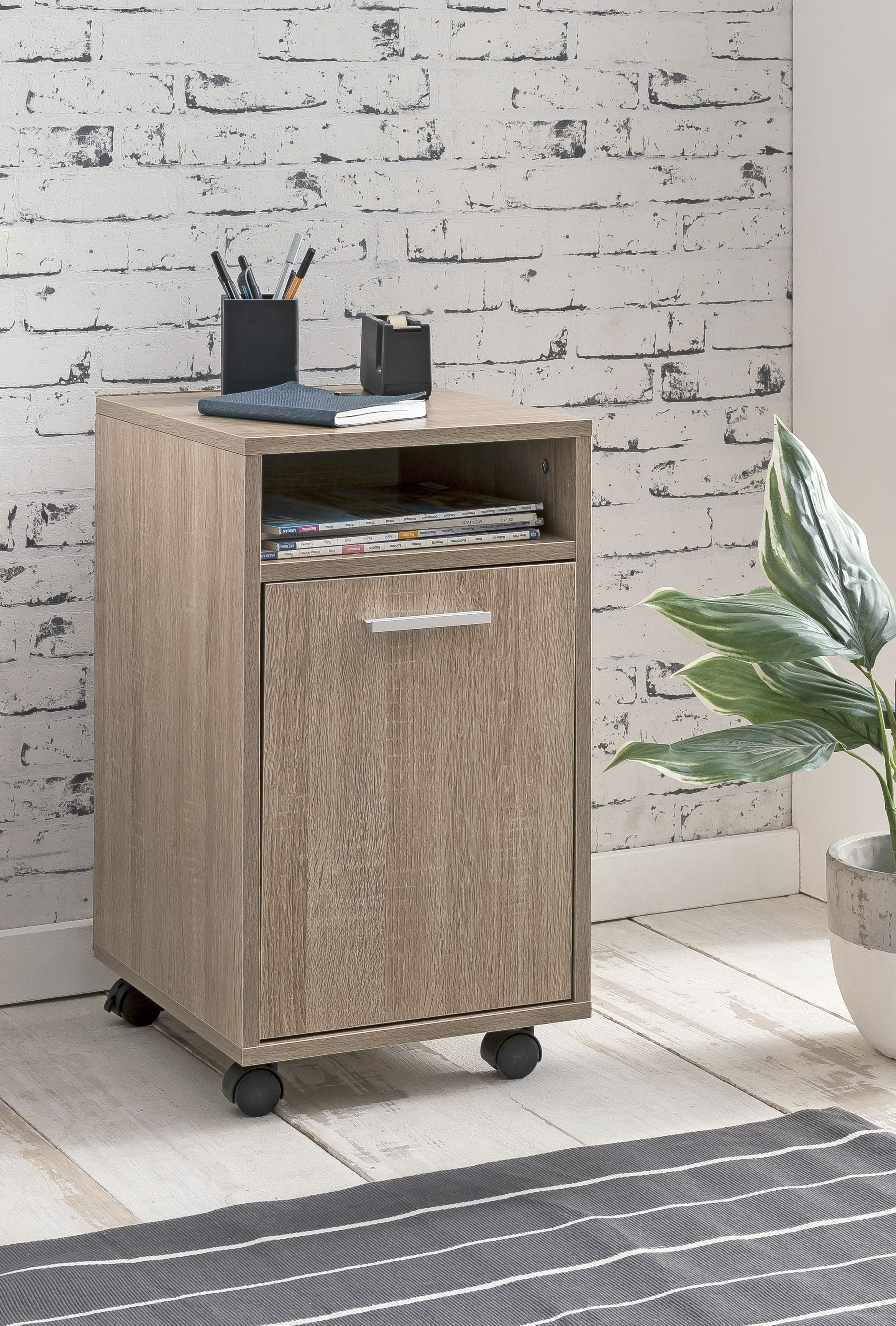 Schreibtisch Braun Holz 2021