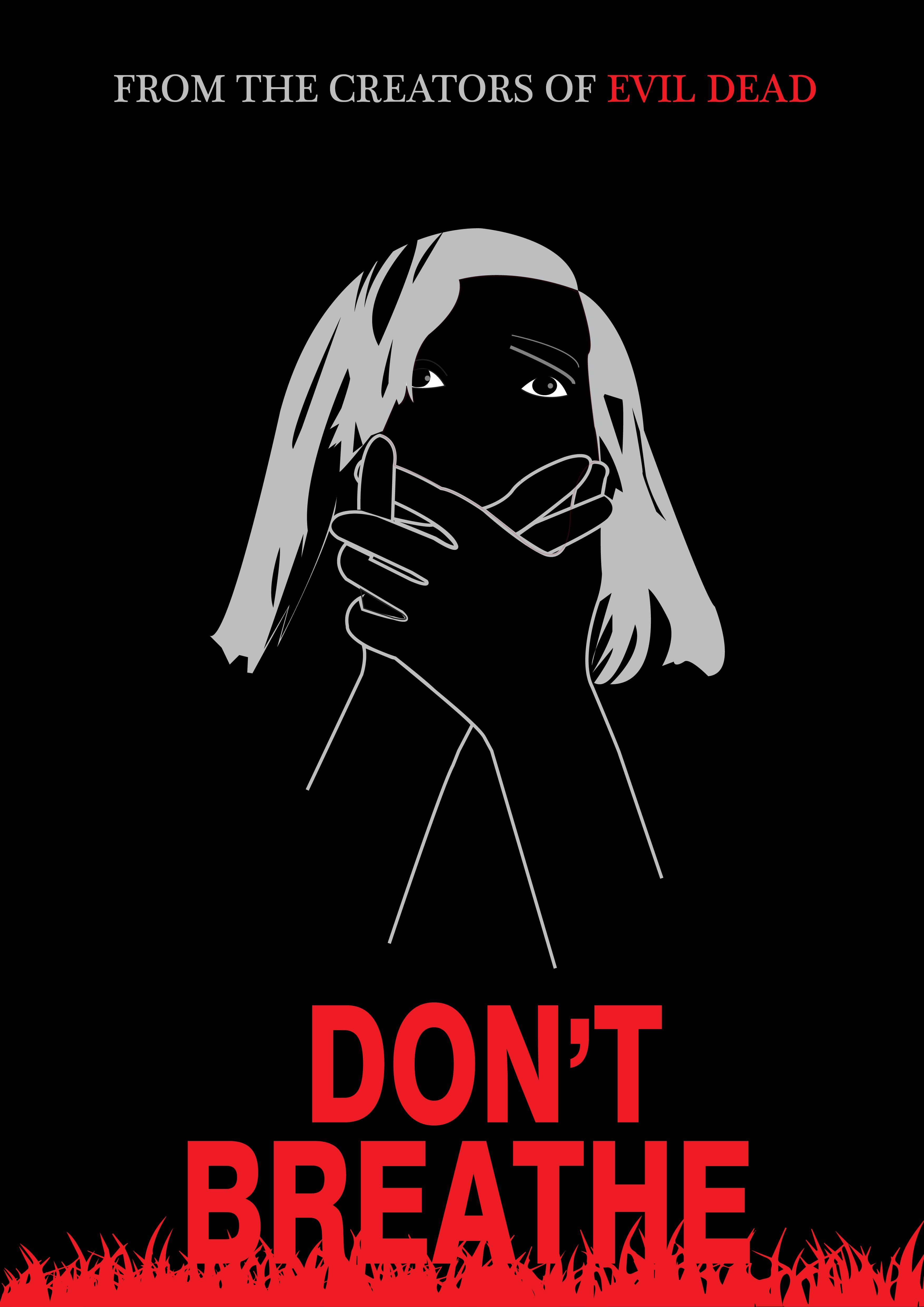 Redesigned Don't Breathe Movie Poster by Silvia W