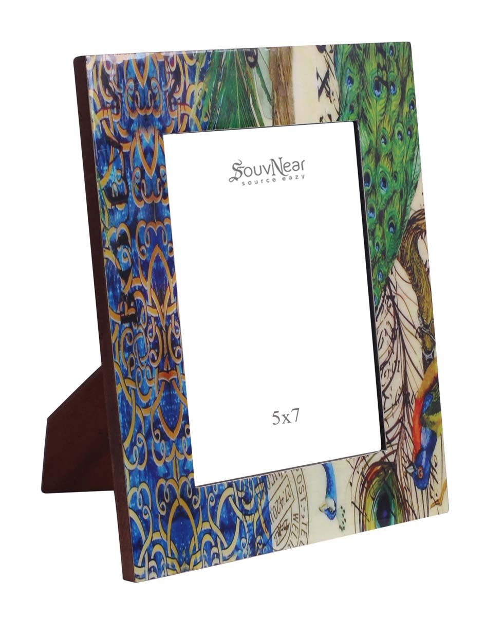 Source Rectangular 5x7 Peacock Photo/Picture Frame in Bulk - Who ...