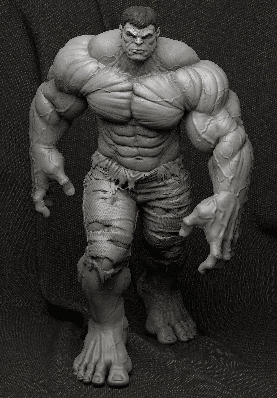 ArtStation - Hulk - Collectible Statue, Bruno Câmara | Art/Culture ...