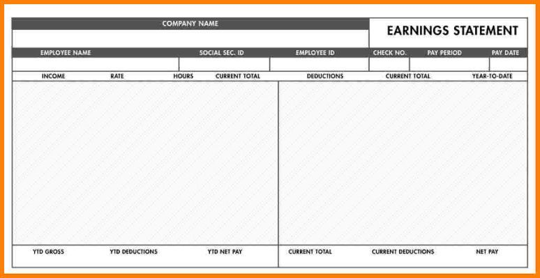 5 Free Paycheck Stub Template Best Templates Template Free Templates