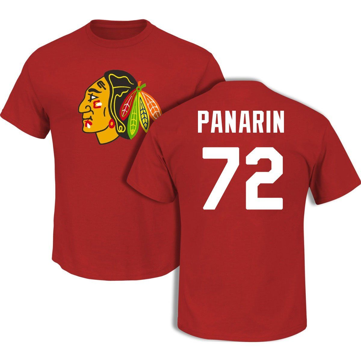 aa4d4a7c171 ... artemi panarin chicago blackhawks red player t shirt by reebok select  size small . ...
