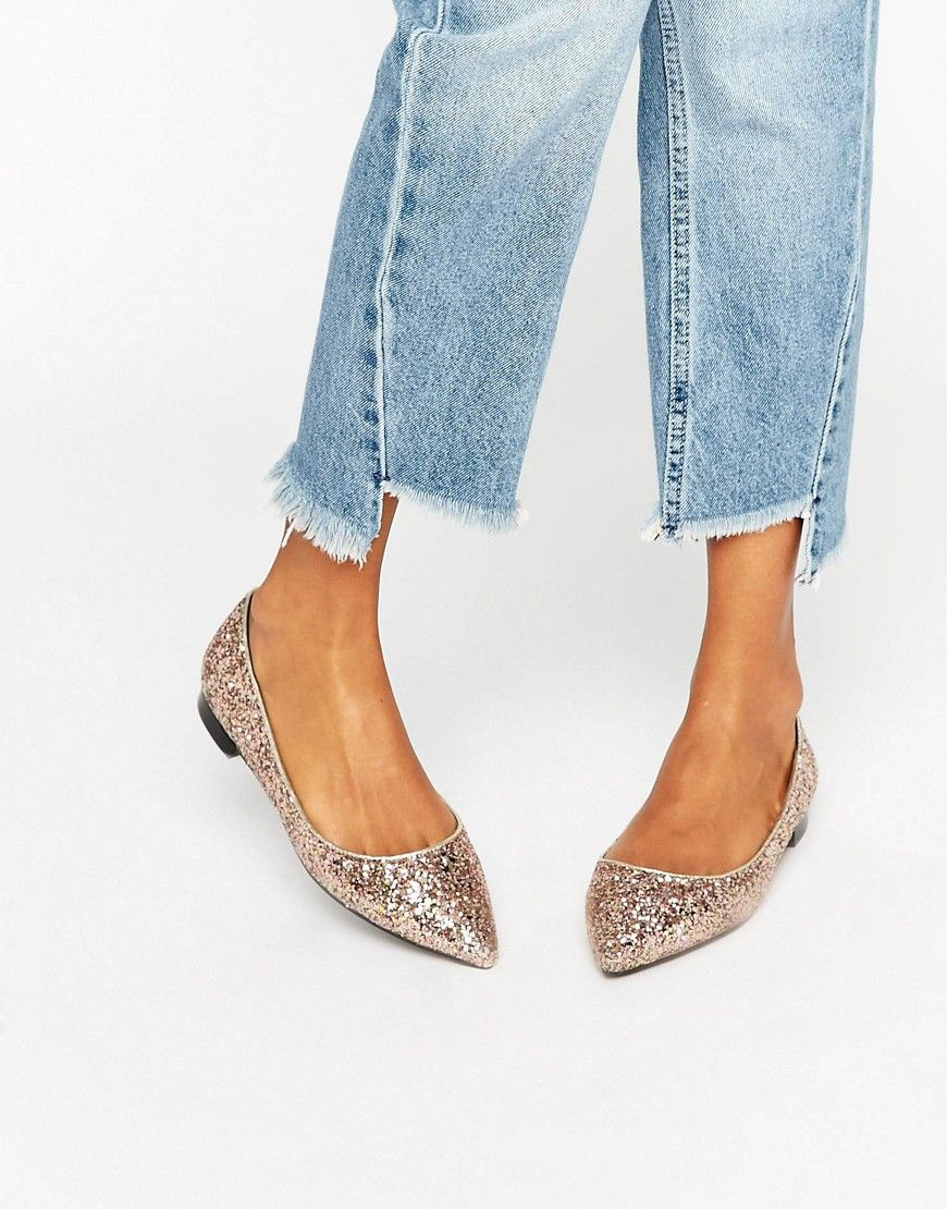 4d9275c8b5c ASOS+LOST+Pointed+Ballet+Flats