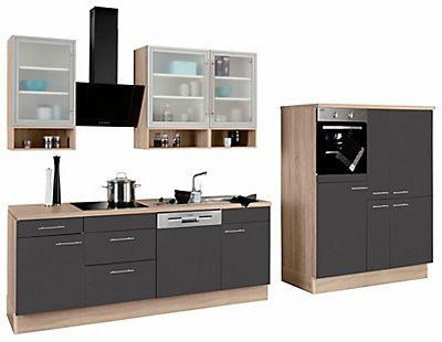 OPTIFIT Küchenzeile mit E-Geräten »Aue«, Breite 370 cm - küchenzeile 220 cm mit elektrogeräten