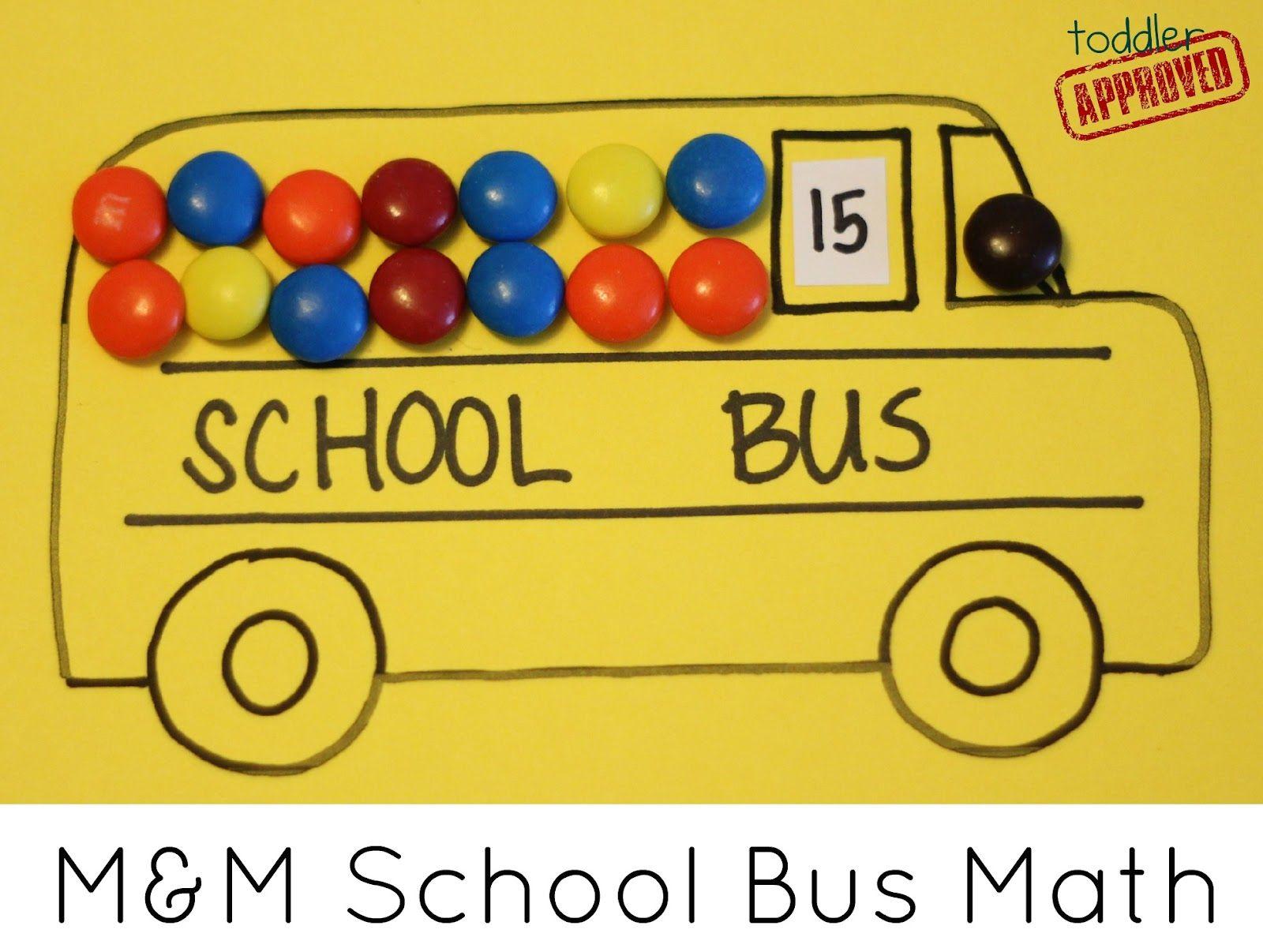 M Amp M School Bus Math