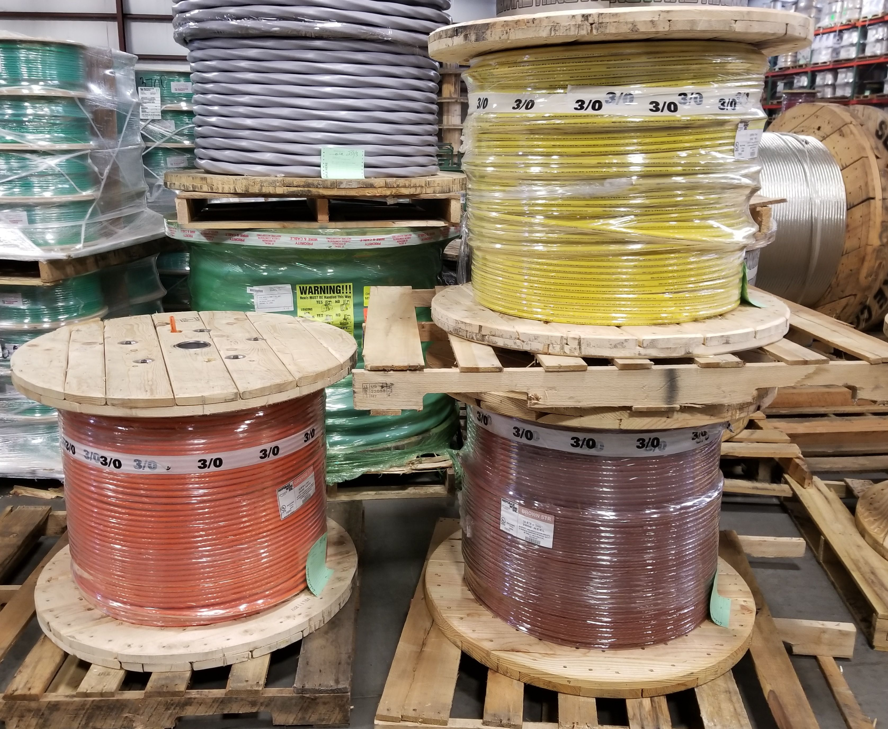 Master Reels Of 3 0 Thhn Highvoltage Colors Acewire Wire Wiring Cable Colours Copper Spools Warehouse Xhhw Xlp Armoredcable Electric Electrical