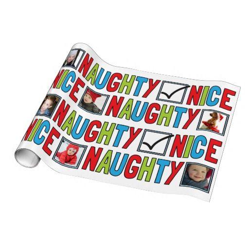 Naughty or Nice Photo Christmas Wrapping Paper