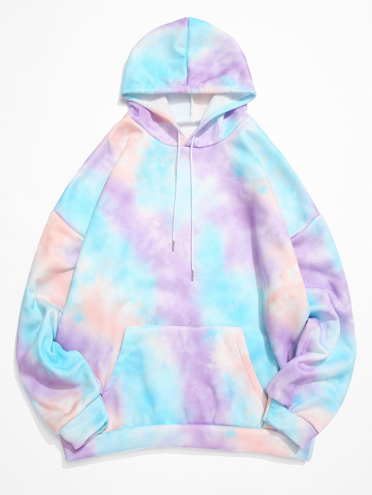 Tie Dye Kangaroo Pocket Fleece Pullover Hoodie Purple Affiliate Kangaroo Pocket Tie Dye Hoodie Ad Tie Dye Outfits Tie Dye Hoodie Stylish Hoodies [ 1596 x 1200 Pixel ]