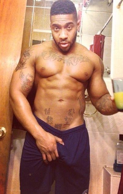 Dark black men naked