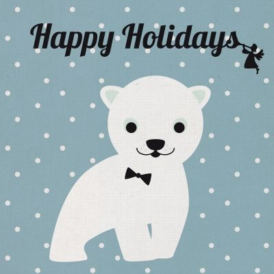 Happy Holidays polar bear