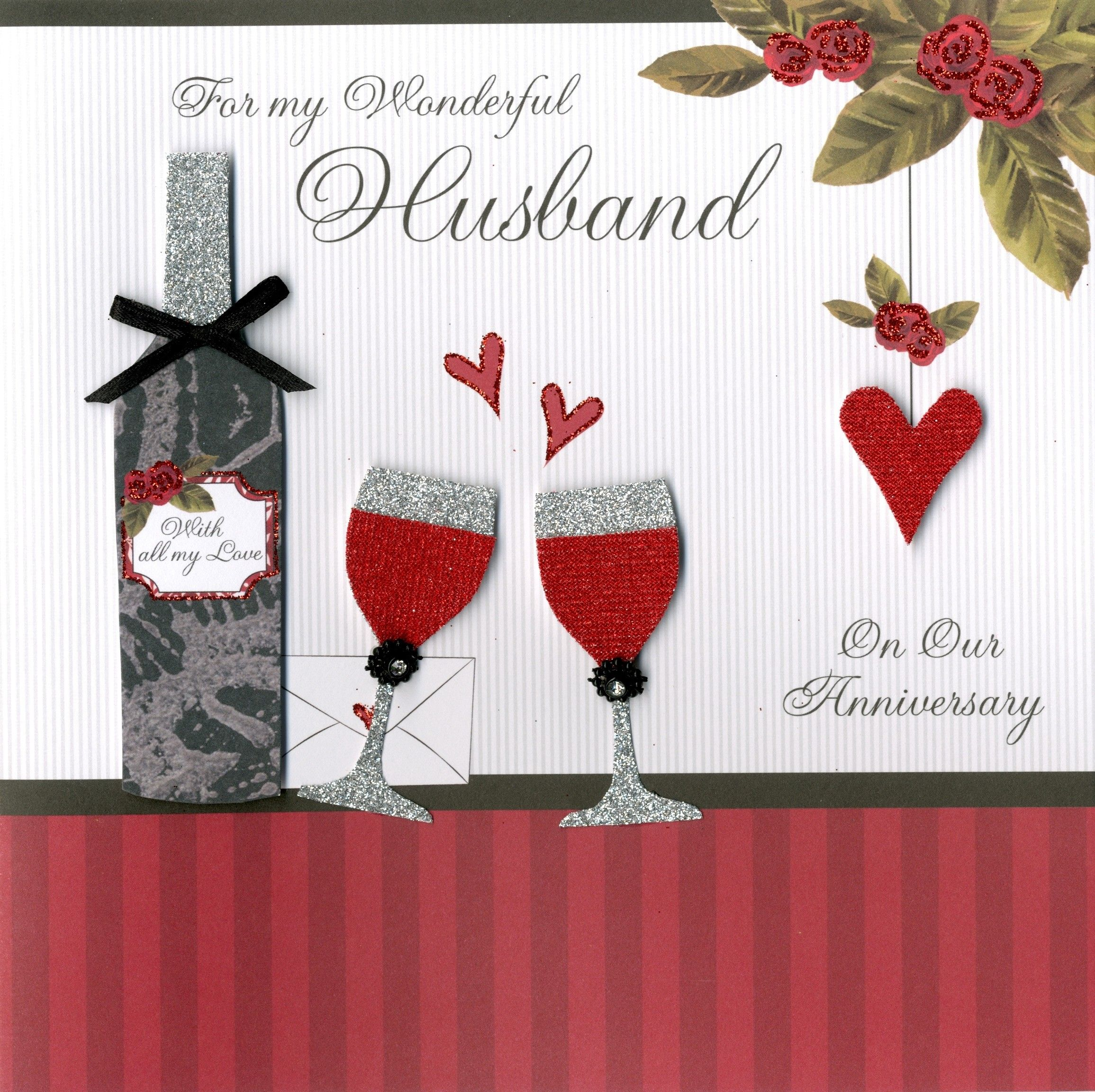 Handmade cards for boyfriend anniversary handmade cards for second nature collectable greeting card for my husband on our wedding anniversary kristyandbryce Choice Image
