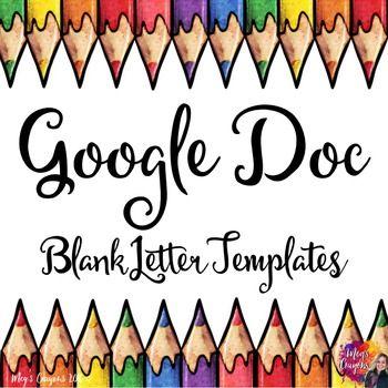 Google Doc-Blank Letter Templates Modelli di lettera, Modelli e - letter in doc