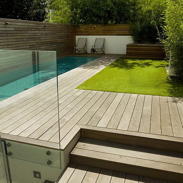 Lane Swimming Pool And Contemporary Garden Designed Built By The Builders Fulham London SW6