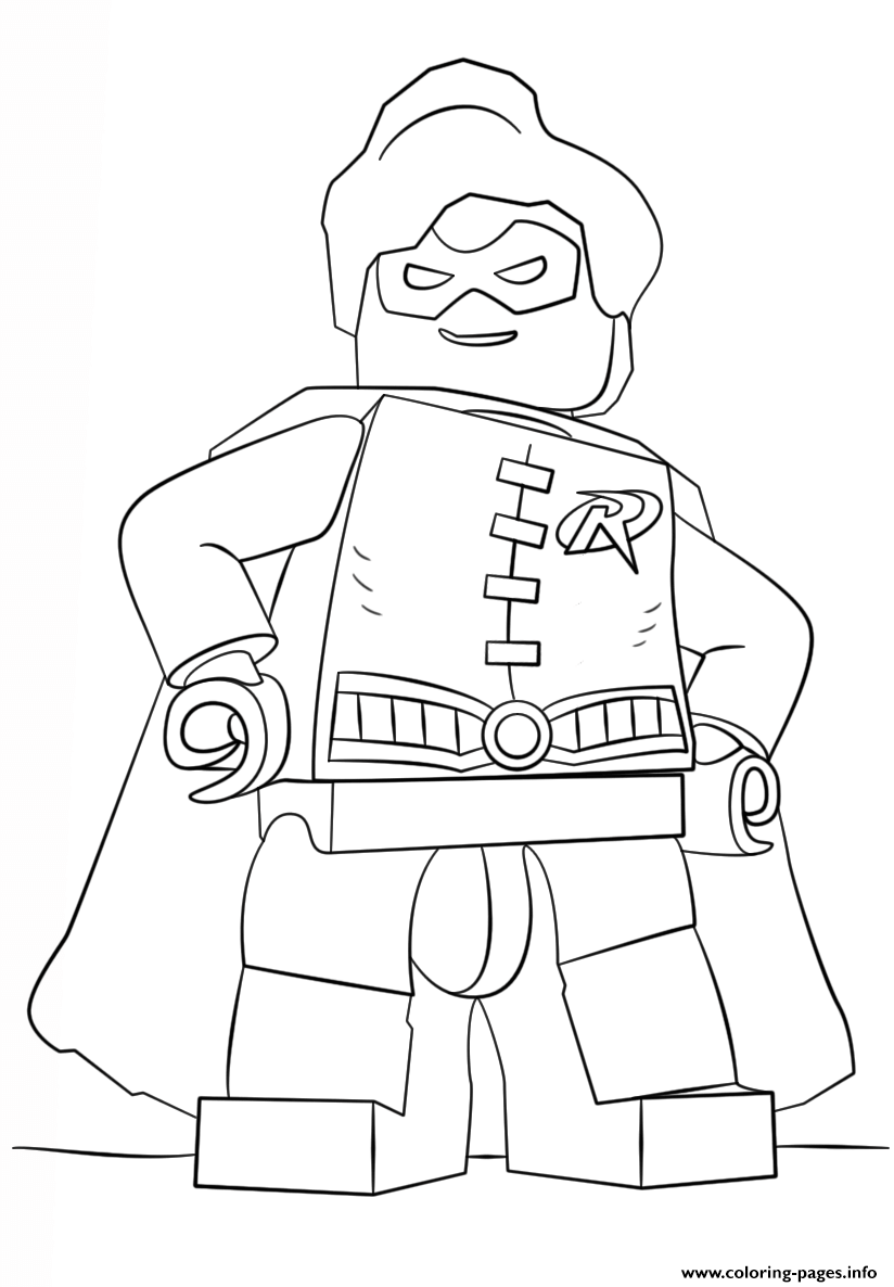 Print Lego Batman Robin Coloring Pages