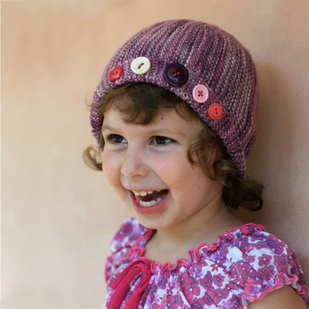 Damsel sideways knit cloche Hat pattern | Knitting | Pinterest ...