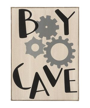 Video games and hanging out with friends: boys need a space of their own for those things. Create a retreat for them with this playful sign that's crafted from wood and durable enough to withstand all sorts of shenanigans.