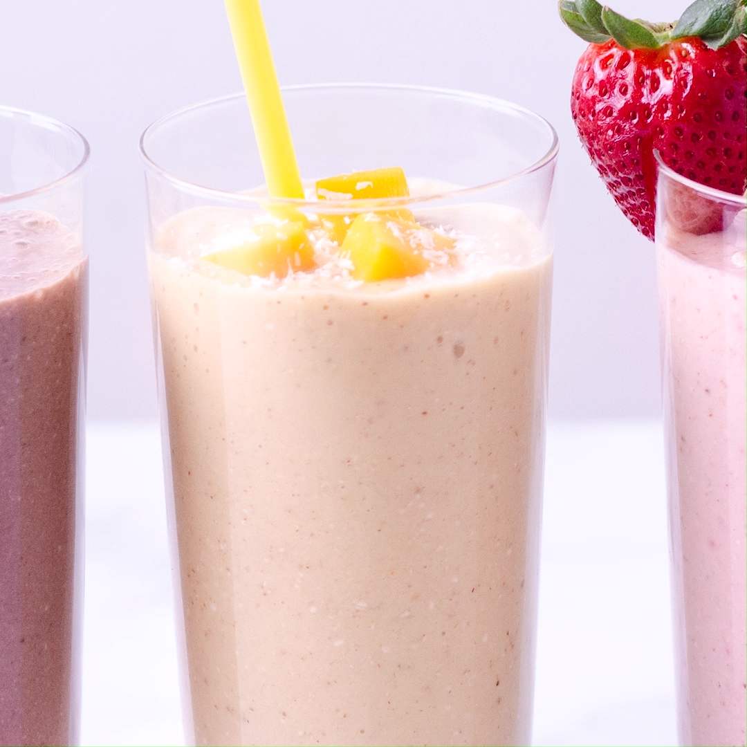 Breakfast Oatmeal Smoothies Three Ways · My Three Seasons