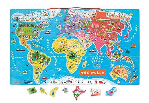 Janod magnetic world map amazon toys games map pinterest janod magnetic world map amazon toys games gumiabroncs Choice Image