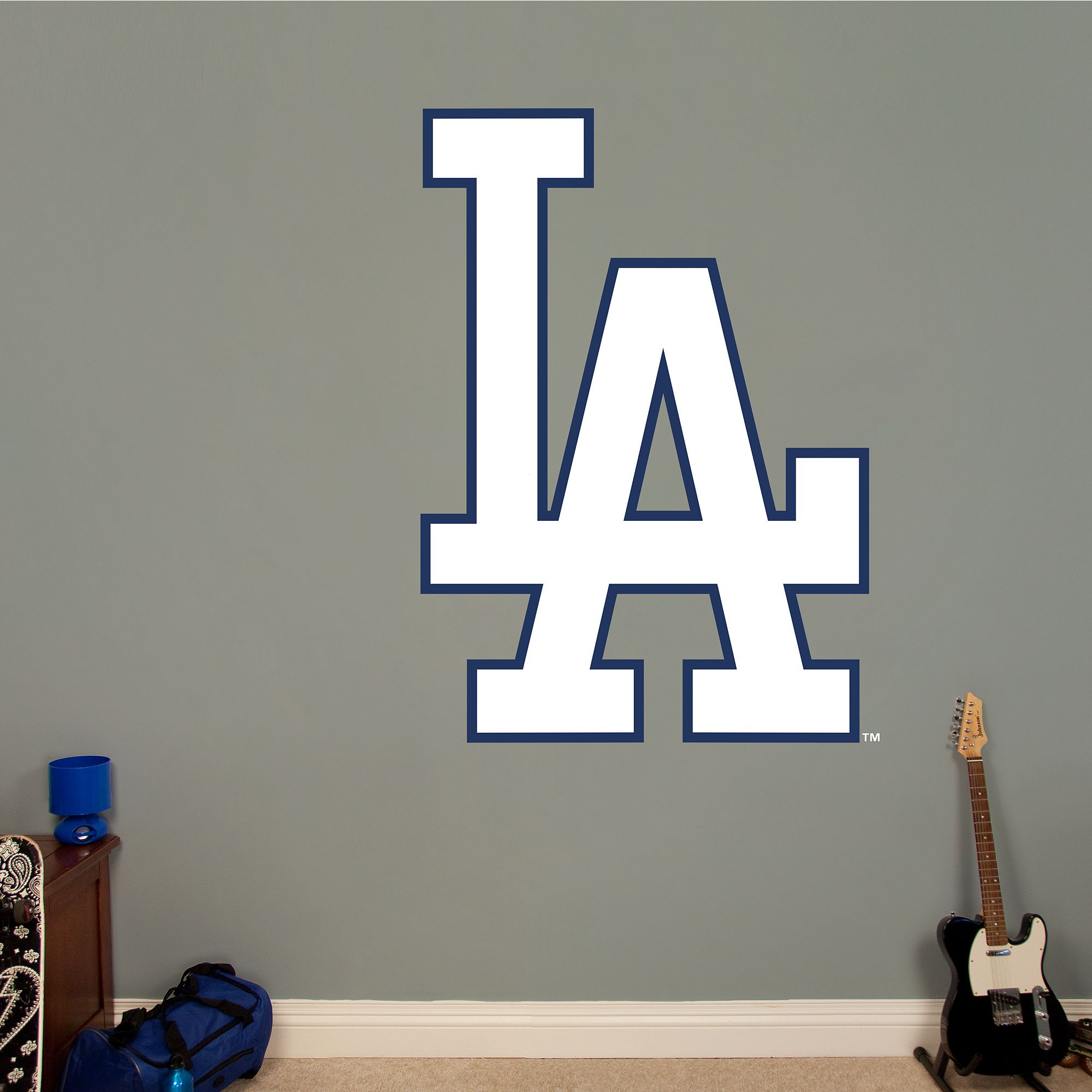 Los Angeles Dodgers Alternate Logo Los Angeles Dodgers Mlb Sports Wall Decals Baseball Bedroom Dodgers