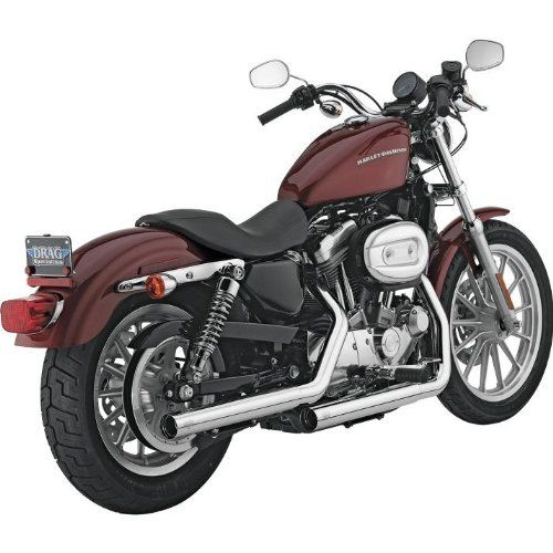 Vance and Hines Straightshots HS Chrome Slip-On Exhaust for Harley
