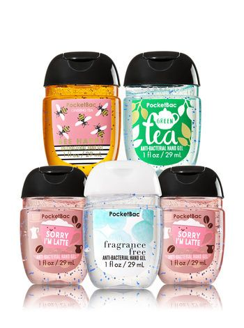 Happy Hands 5 Pack Pocketbac Sanitizers Bath And Body Works