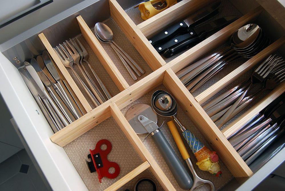 Cómo Hacer Un Organizador De Cubiertos Para La Cocina Organizador De Cubiertos Organizador De Cajones Hacer Cajones De Madera