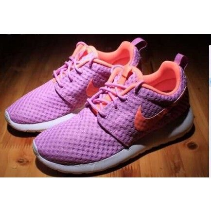 sports shoes 41edc 2207a Nike Roshe Run One BR Purple Orange Womens