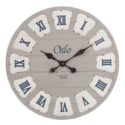 Horloge en bois D 65 cm LINSTOWS