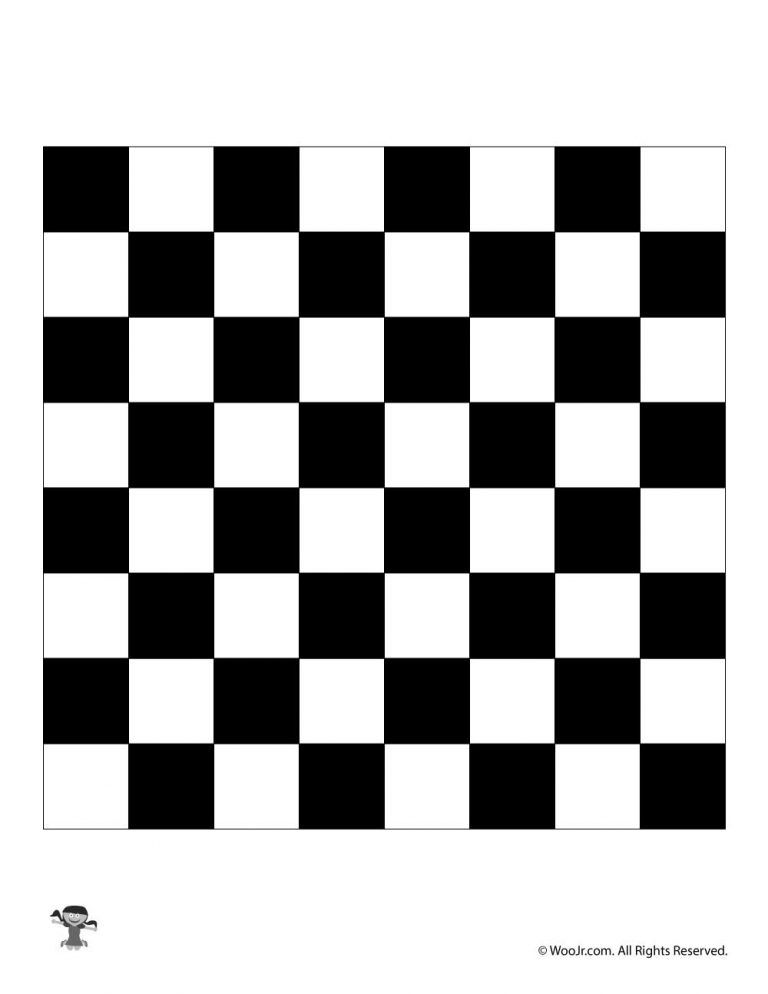graphic relating to Printable Checkers Board named Printable Chess Board / Checkers Board elk harbor