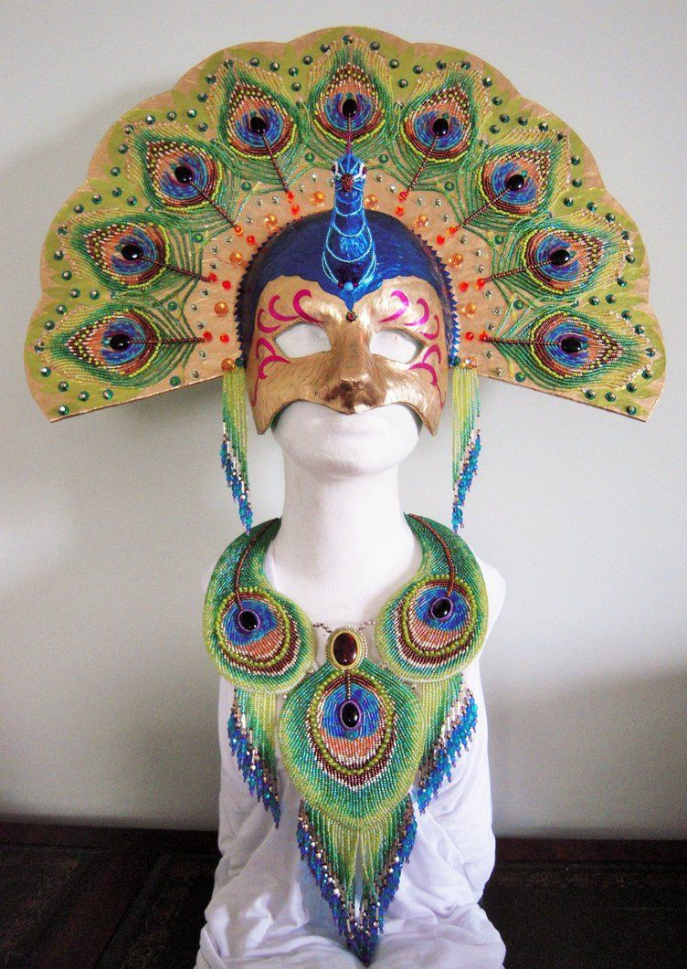 Bead Embroidery Necklace And Mask By Priscillascreations On