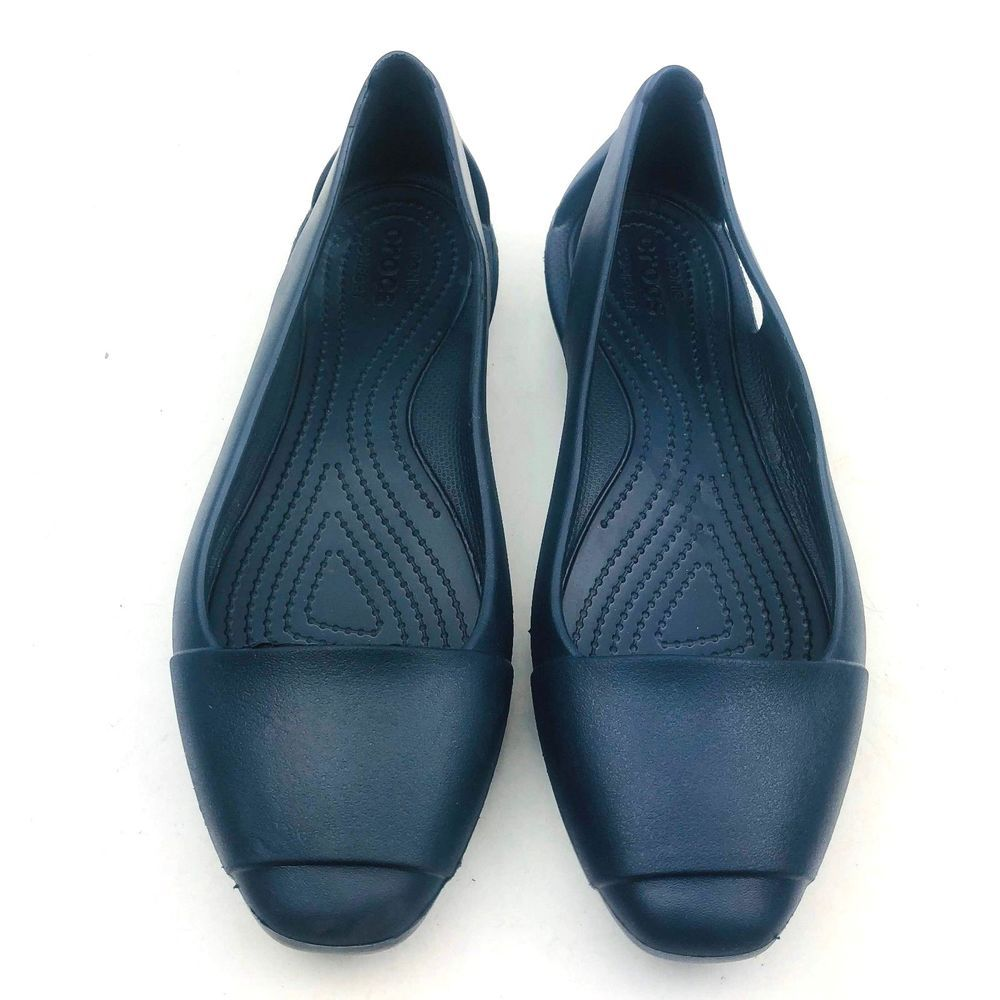 64e5283f7b5 Crocs Iconic Women Shoes Navy Comfort Blue Flats Slip On Size 9 Wide  Crocs   Comfort  Casual