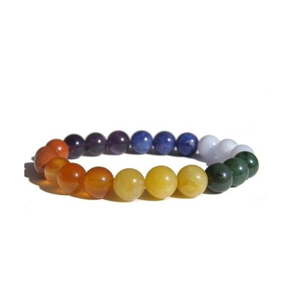 7 Chakras Bracelet 2 ($39) ❤ liked on Polyvore featuring jewelry, bracelets, yellow bracelet, carnelian bracelet, bracelet jewelry, red jewelry and bracelet bangle