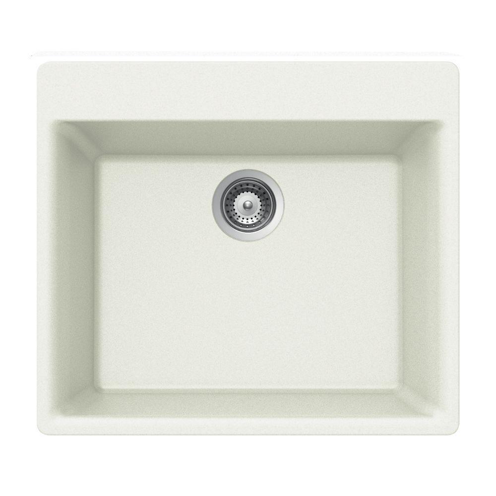 Houzer Quartztone Drop In Composite Granite 24 In 1 Hole Single